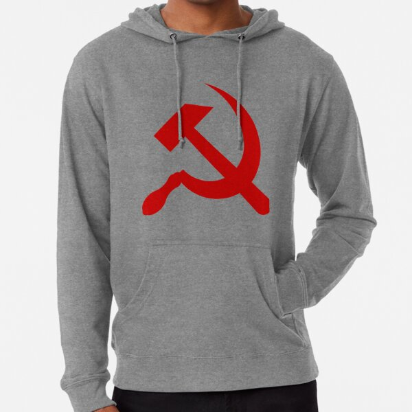 A red hammer and sickle design from the naval ensign of the Soviet Union Lightweight Hoodie