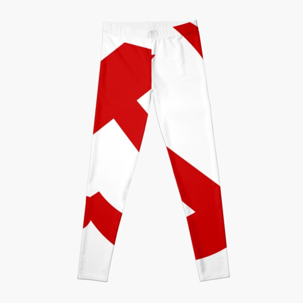 A red hammer and sickle design from the naval ensign of the Soviet Union Leggings