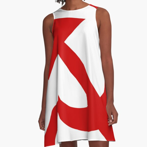 A red hammer and sickle design from the naval ensign of the Soviet Union A-Line Dress
