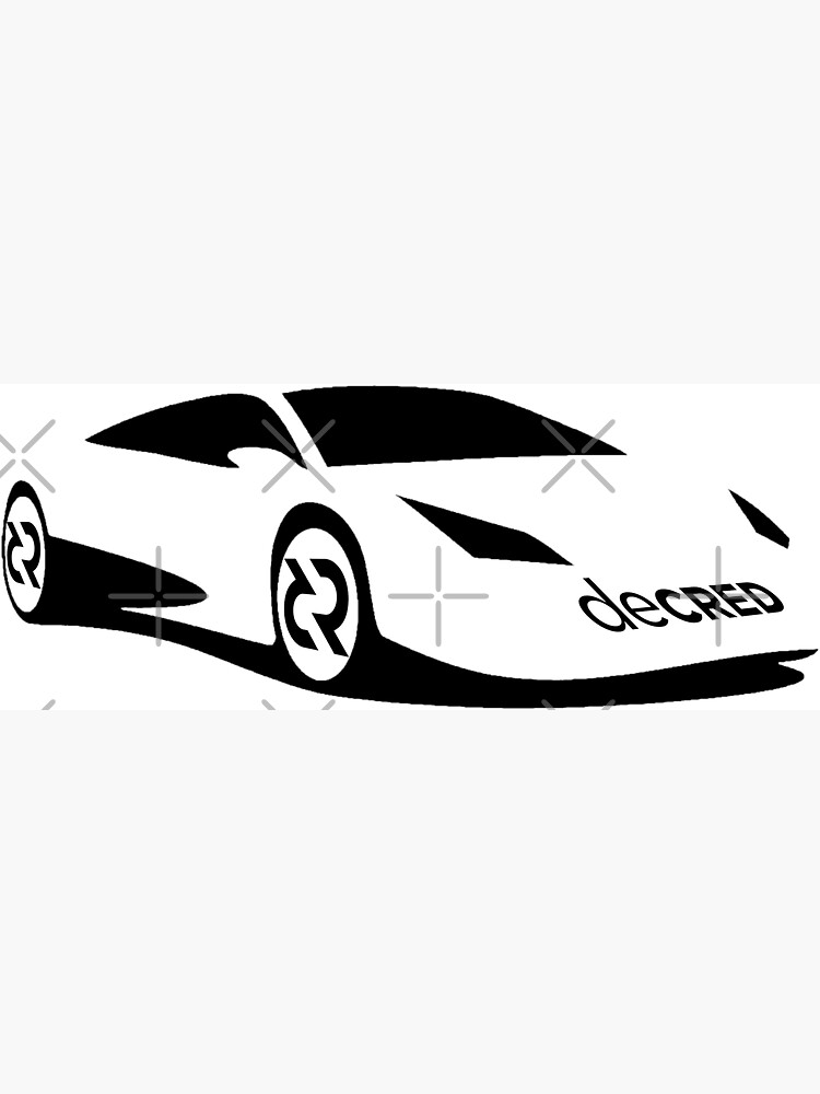 (sticker) Decred sports car v3 by OfficialCryptos