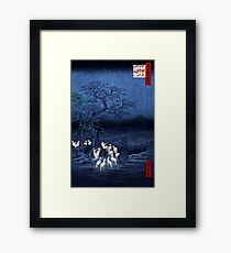 Hiroshige New Year's Eve Foxfires at the Changing Tree, Oji Framed Print