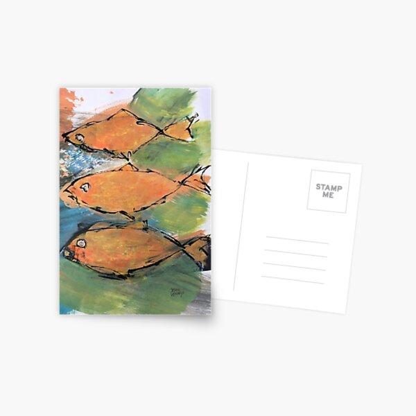 Three Goldfish Postkarte