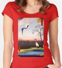 Hiroshige Minowa, Kanasugi, Mikawashima Women's Fitted Scoop T-Shirt