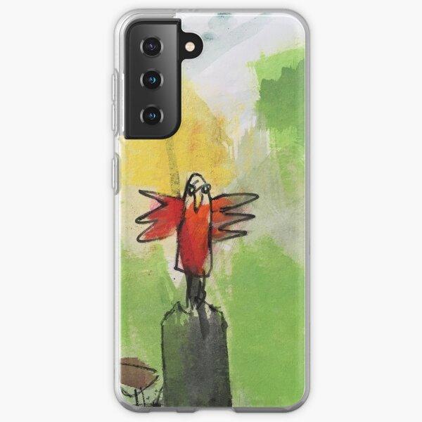 Red Bird Samsung Galaxy Flexible Hülle