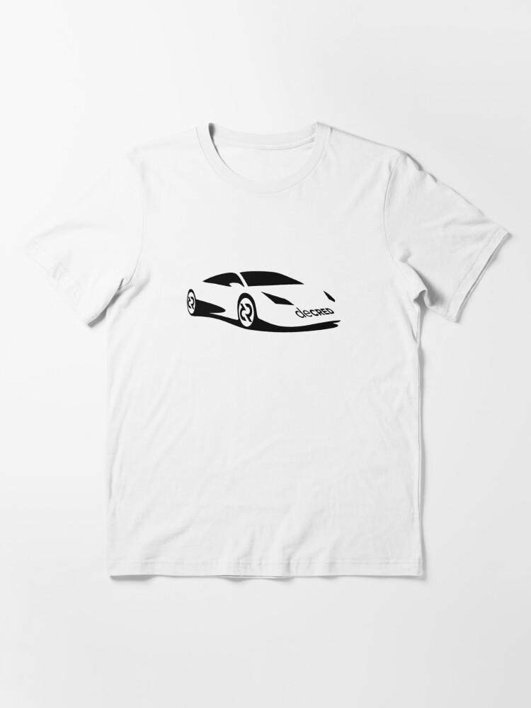 Alternate view of Decred sports car ™ v1 'Design timestamped by https://timestamp.decred.org/' Essential T-Shirt