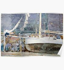 Childe Hassam - Drydock, Gloucester  American  Impressionism Seascape Marine Poster
