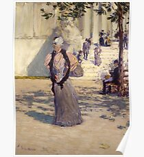 Childe Hassam - Figures in Sunlight , American Impressionism Woman Portrait Fashion  Poster
