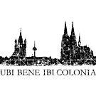 UBI BENE IBI COLONIA Vintage Köln Skyline von theshirtshops