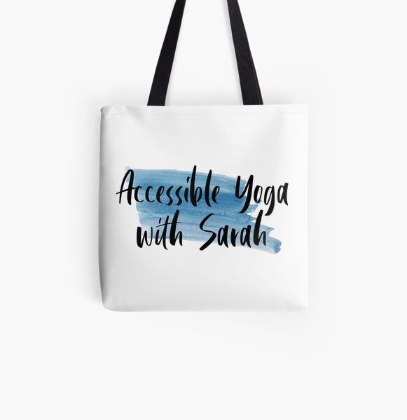 Accessible Yoga with Sarah Blue All Over Print Tote Bag