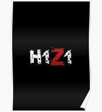 H1Z1: Title - White Ink Poster