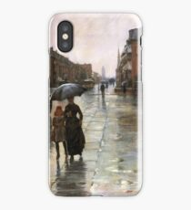 Childe Hassam - Rainy Day, Boston American Impressionism Landscape Rain iPhone Case/Skin
