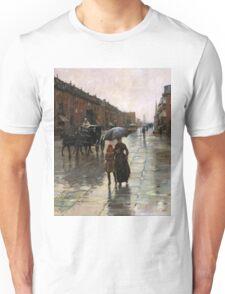 Childe Hassam - Rainy Day, Boston American Impressionism Landscape Rain Unisex T-Shirt