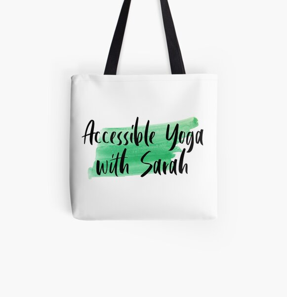 Accessible Yoga with Sarah Green All Over Print Tote Bag