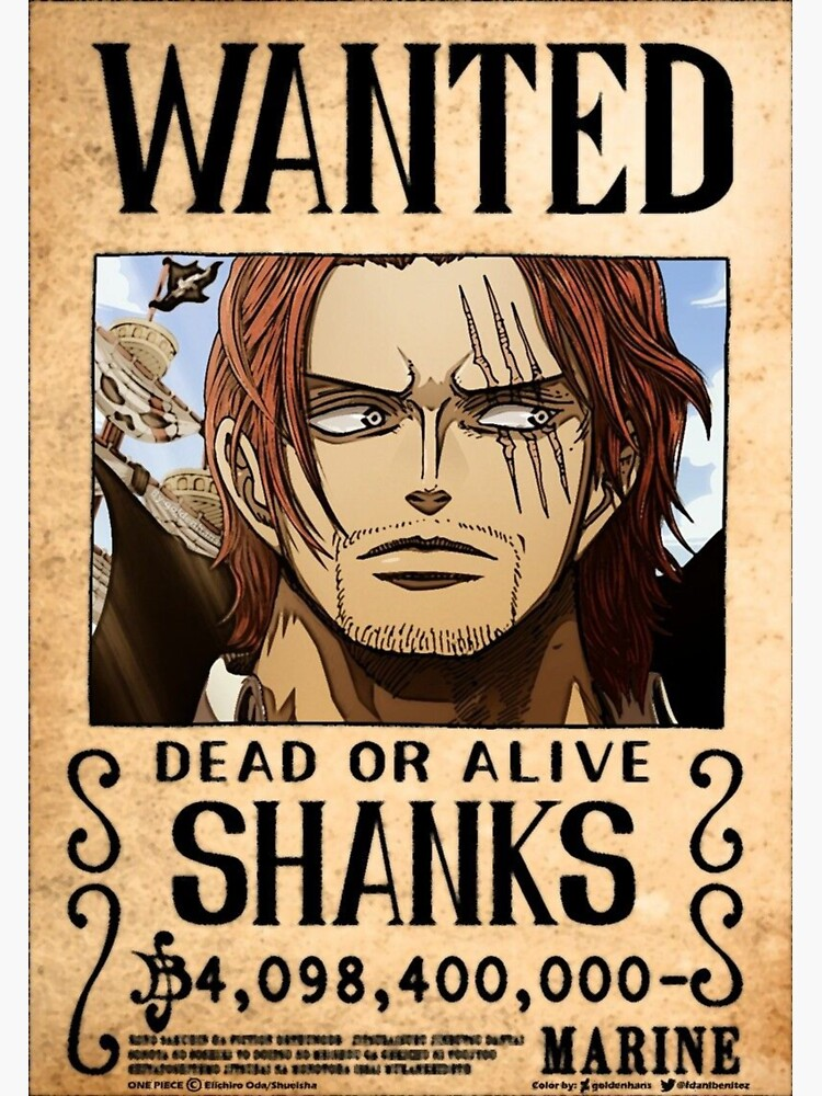 wanted shanks le roux in one sticker by
