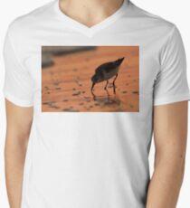 Sandpiper Silhouette Mens V-Neck T-Shirt