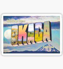 OKAGA CALIFORNIA Sticker