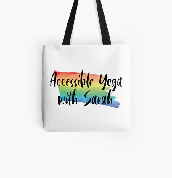 Accessible Yoga with Sarah Rainbow All Over Print Tote Bag