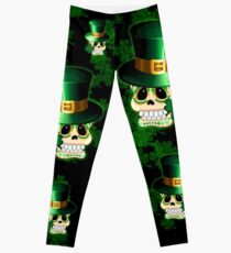St Patrick Skull Cartoon  Leggings