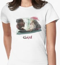 Clexa - The 100 - brush Womens Fitted T-Shirt