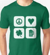 Peace Love Shamrock Beer T-Shirt