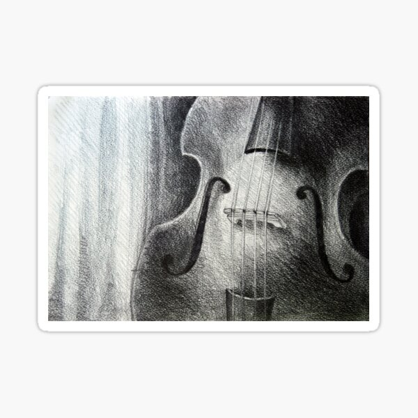Sounds fill the room, 2012, A4, graphite crayon Sticker