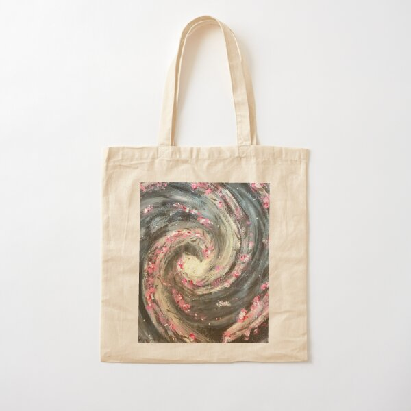 Nebula in pink and white tones - 4 Way option Cotton Tote Bag