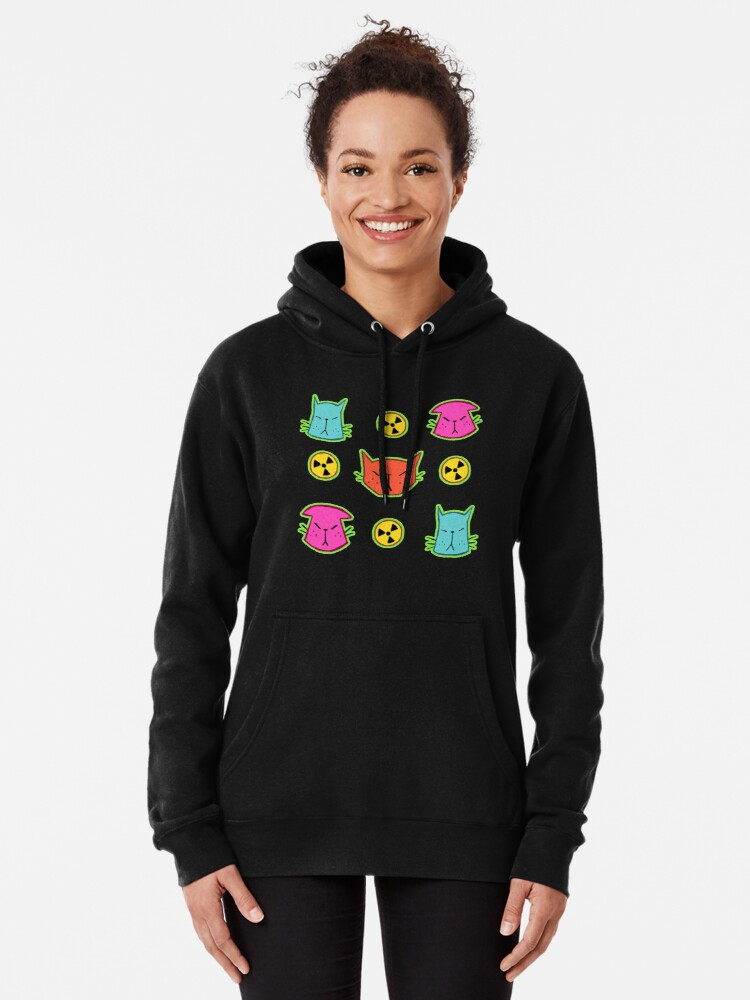 Alternate view of NUCLEAR CATS Pullover Hoodie