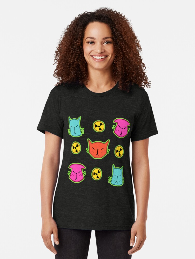 Alternate view of NUCLEAR CATS Tri-blend T-Shirt