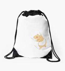 Climbing Hamster Drawstring Bag