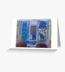 Dufy Raoul - Window Opening on Nice 1928 ,   Seascape  Greeting Card