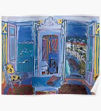 Dufy Raoul - Window Opening on Nice 1928 ,   Seascape  Poster
