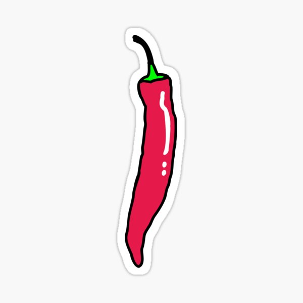 Spicy Red Hot Chili Pepper Sticker