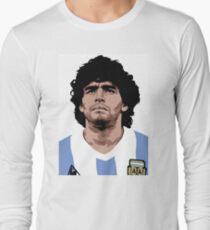 Maradona - bester Fußballspieler Langarmshirt
