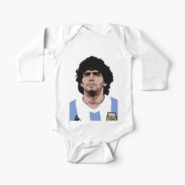 Maradona - mejor futbolista Body de manga larga para bebé