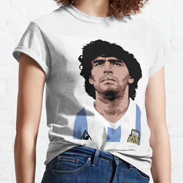 Maradona - mejor futbolista Camiseta clásica