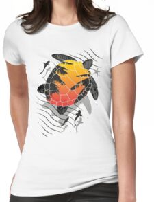 Turtle Red Womens Fitted T-Shirt