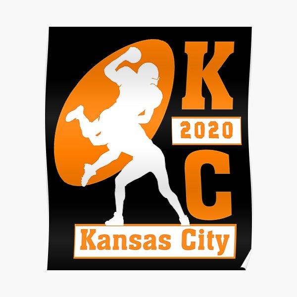 Kansas City 2020 Vintage KC Football Missouri Retro Gift  Poster