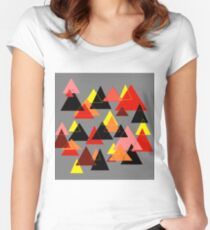 Red Mountains Women's Fitted Scoop T-Shirt