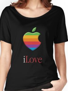 iLove 3D (for dark shirts) Women's Relaxed Fit T-Shirt