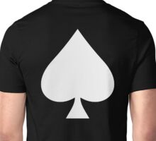 ACE, Ace of Spades, White on Black, Music, Motorbike, Hells Angels, Gang, Cards Unisex T-Shirt