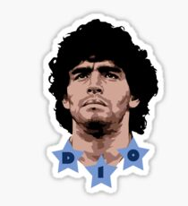 Maradona - D10 - god of soccer Sticker