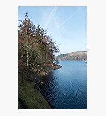 View north from the West bank of the Derwent Reservoir Photographic Print