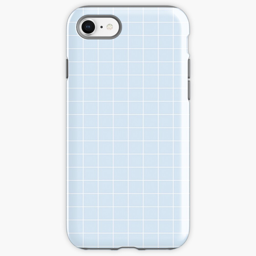 Blue Aesthetic Grid  iPhone Case & Cover