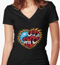 Corazon de Puerto Rico Women's Fitted V-Neck T-Shirt