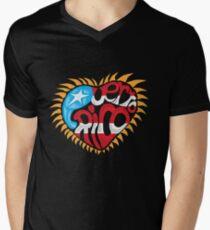 Corazon de Puerto Rico Men's V-Neck T-Shirt