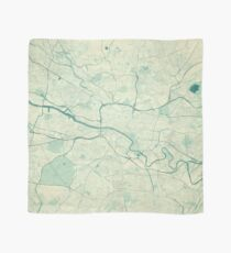 Glasgow Map Blue Vintage Scarf