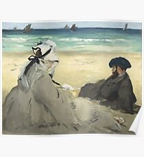 Edouard Manet - On the Beach 1873 , Impressionism  Seascape  Poster