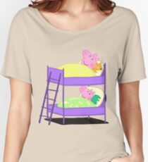 Peppa Pig Bed Time Women's Relaxed Fit T-Shirt
