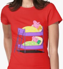 Peppa Pig Bed Time Women's Fitted T-Shirt
