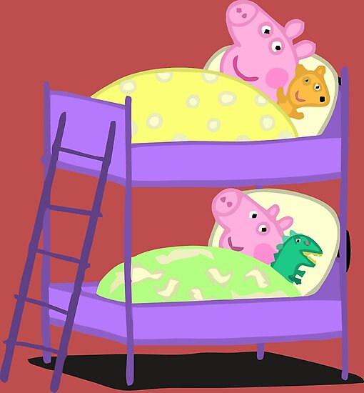 Quot Peppa Pig Bed Time Quot Photographic Print By Jangelyamil